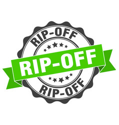 Rip-off stamp sign seal vector