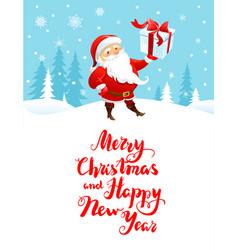santa holiday cartoons vector image