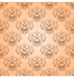 seamless with damask elements vector image