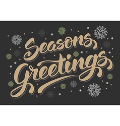 Seasons greetings vector