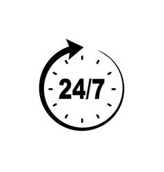 Service 247 icon vector