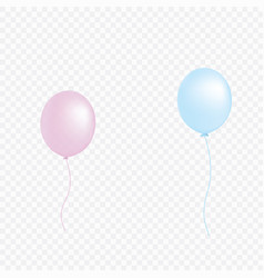set of pink blue transparent with confetti helium vector image