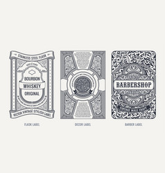 Set vintage beer frames and labels craft vector