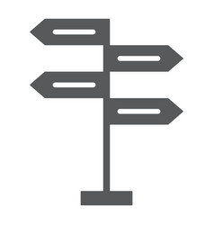 Signpost glyph icon decision making vector