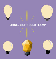 simply version of the hand-drawn light light bulb vector image
