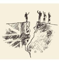 Sketch Brexit UK EU referendum vector