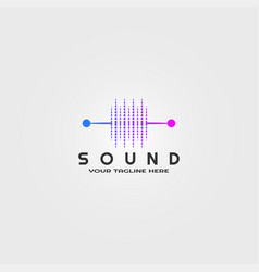 Sound logo template logo technology for business vector
