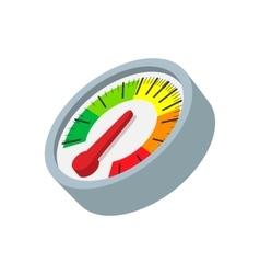 Speedometer cartoon icon vector image