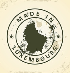 Stamp with map of Luxembourg vector