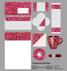 stationery template design with elements of vector image