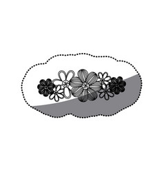 Sticker monochrome minimalistic background with vector