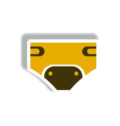 Stylish icon in paper sticker style children vector