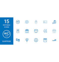 surprise icons vector image