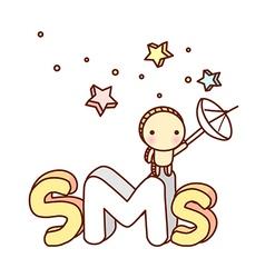 The sms icon vector