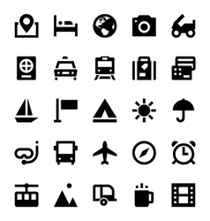 Tourism and Travel Icons 1 vector