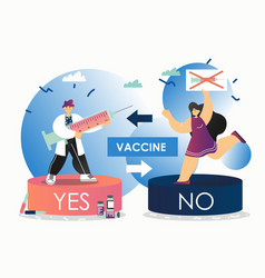 vaccination debate flat style design vector image