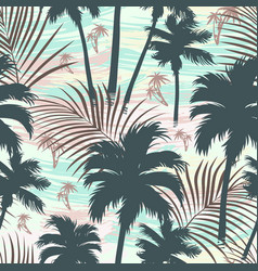vintage tropical seamless pattern vector image