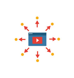 viral video icon simple flat element from content vector image