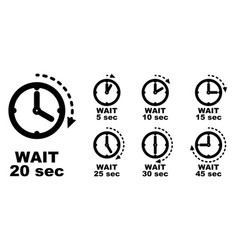 Wait pause period of passing time icon simple vector