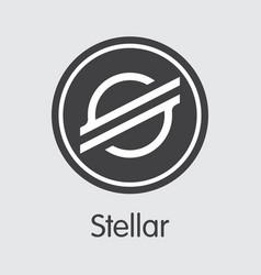 Xlm - stellar the logo of coin or market emblem vector