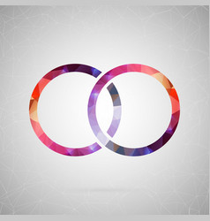abstract creative concept icon of ring for vector image vector image