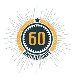 Anniversary logo 60th Anniversary 60 vector image vector image