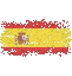 Spanish grunge tile flag vector image vector image