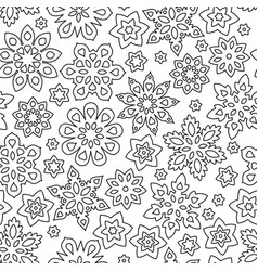 abstract hand drawn outline seamless pattern with vector image vector image