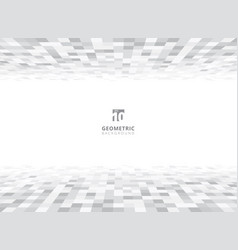 abstract squares geometric gray and white vector image vector image