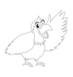 animal outline for parrot bird vector image vector image