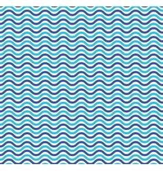 Blue ocean waves marine seamless pattern vector image vector image