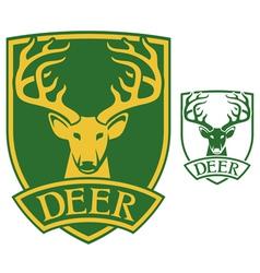 deer head symbol vector image vector image