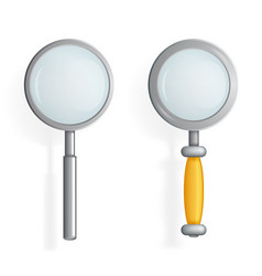 isolated magnifying glass loupe icon search symbol vector image