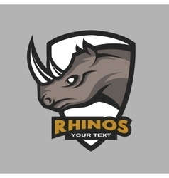 Rhino emblem logo for a sports team vector image vector image