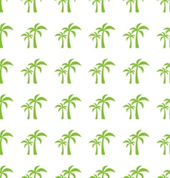 Endless Print Texture with Tropical Palm Trees vector image
