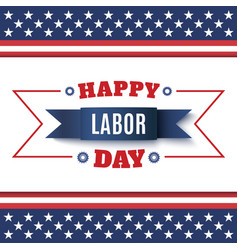 Happy Labor Day abstract background vector image vector image