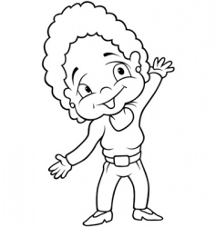 smiling aunt vector image vector image