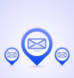 blue mail symbols vector image vector image