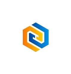 company business shape technology logo vector image vector image