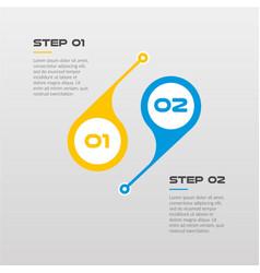 horizontal steps timeline infographics circle - vector image