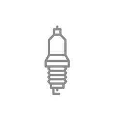 simple car candle spark plug line icon symbol vector image vector image
