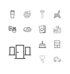 13 decoration icons vector