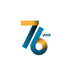 76 year anniversary template design vector