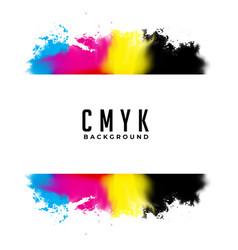 Abstract cmyk watercolor splatter background vector