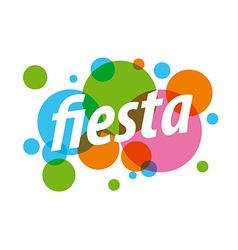 Abstract colorful logo for fiesta vector
