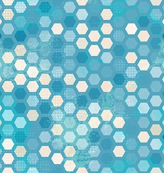 Abstract grunge blue cells seamless vector