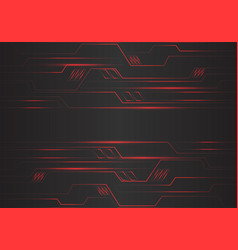 abstract red circuit polygon geometric light vector image