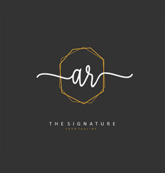 Ar initial letter handwriting and signature logo vector