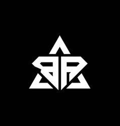 Ba monogram logo with diamond shape and triangle vector