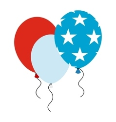 Balloons in the USA flag colors icon vector image
